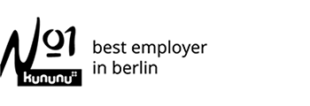 Voted best company to work for in Berlin<p><strong>kununu</p></strong>